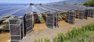 Serre photovoltaïque extérieur