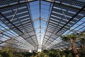 Serre photovoltaïque intérieur