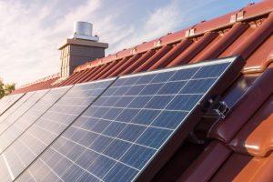 Toiture photovoltaïque vue de près