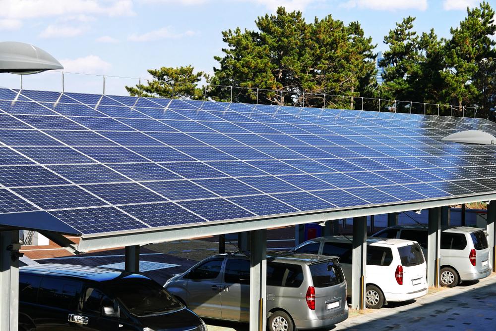 Le parking a panneau solaire en France situation et perspectives