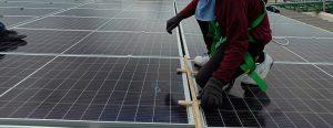 Mise en place des panneau solaire