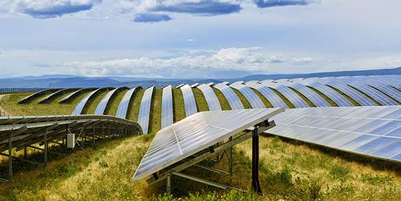 L'image de l'entreprise qui emploie du solaire