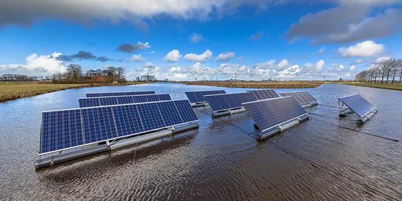 Le concept du solaire flottant