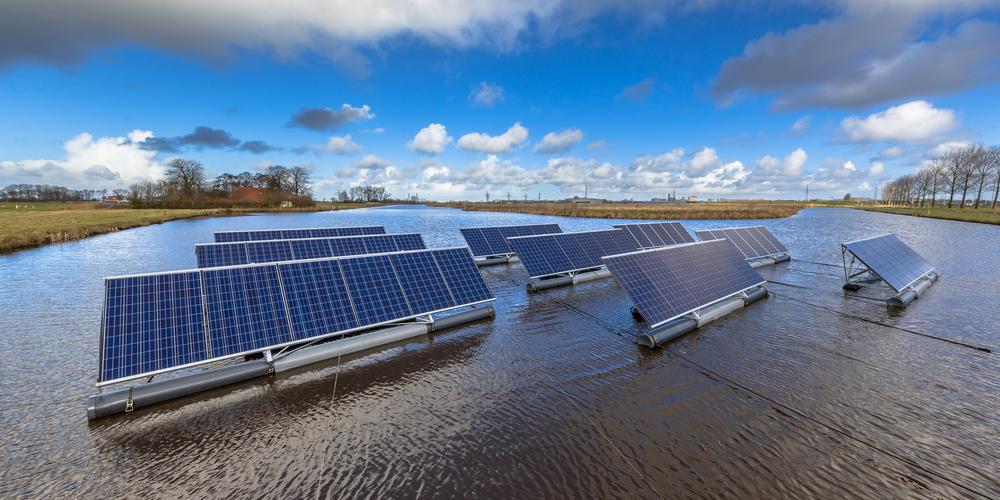 concept du solaire flottant
