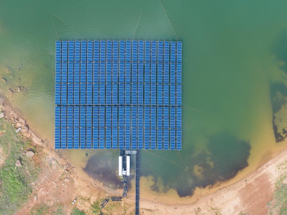 installation solaire flottant