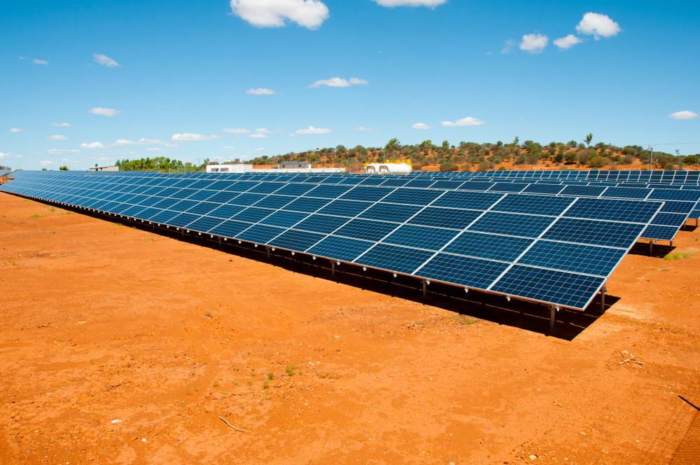 Centrale solaire dans une ancienne carrière