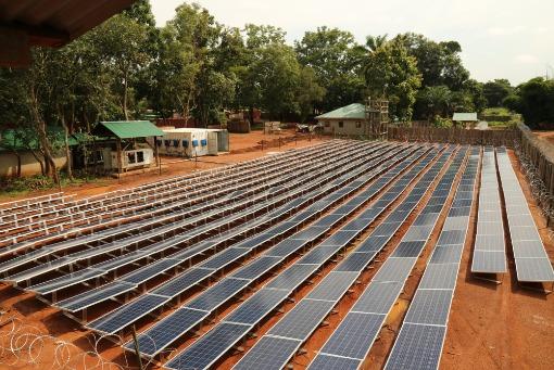 Centrale solaire au sol