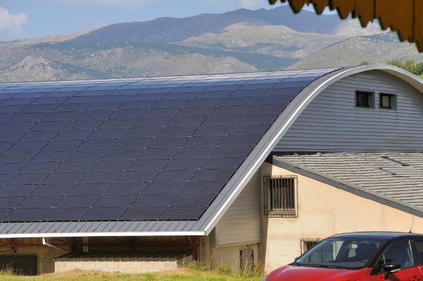 panneau solaire sur toiture